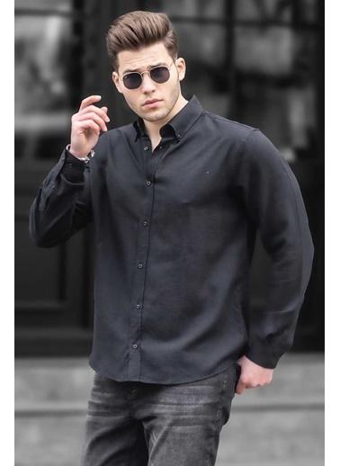 Madmext   Erkek Gömlek 4925 Siyah